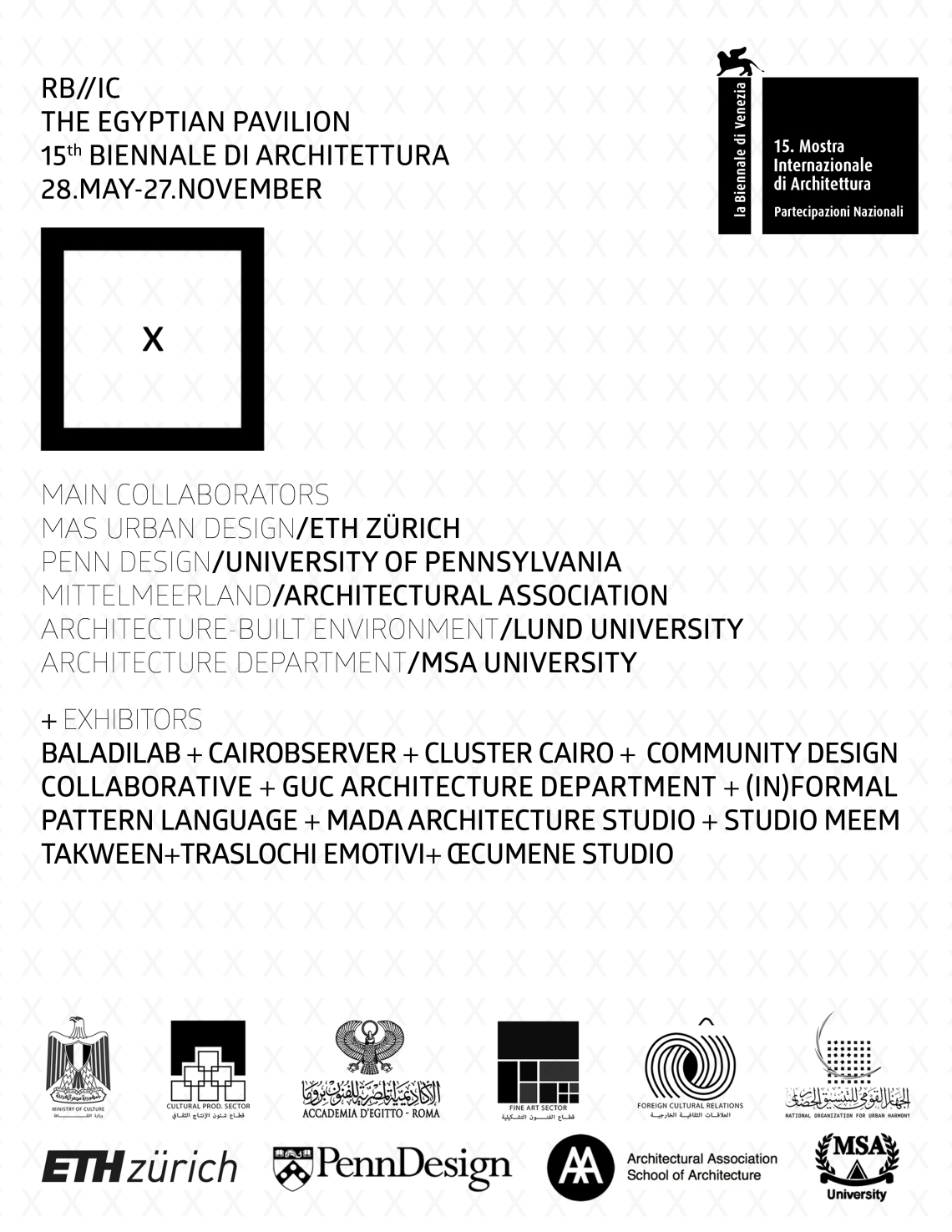 Egyptian Pavilion 15th Biennale of Architecture